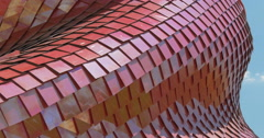 Architectural metal red pattern Stock Footage