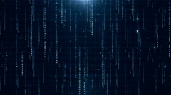 BLUE digital data background 4K (More than 35 ) - stock footage
