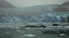 Glacier Passing Alaska Stock Footage