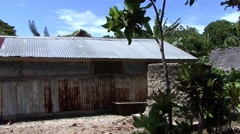 A House on a south pacific island Stock Footage