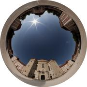 360x220 degrees Fisheye Image - Kloster Wiblingen (Allsky / Fulldome / texture) - stock photo