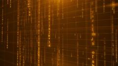 Orange digital data background 4K (More than 35 ) Stock Footage