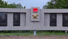 Memorial Gallery of Heroes of Soviet Union panorama Stock Footage