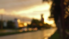 Wet weather in summer city Stock Footage