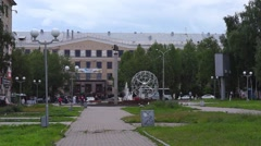 View on Petrozavodsk State University in summer  day Stock Footage