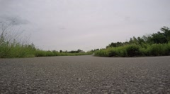 """Supermoto """"S"""" turn front view Stock Footage"""