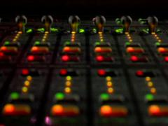 Sound board lights1 Stock Footage