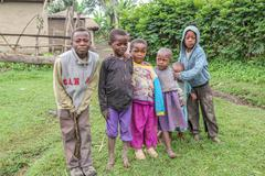 Poor african children Stock Photos