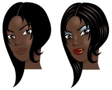 Before After Face Stock Illustration