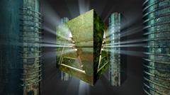 Illuminati cubic core Stock Footage