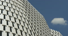 Architectural metal white pattern Stock Footage