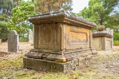 Old grave - stock photo