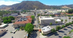 4K, Drone, Aerial view of Warner Brothers Movie Studios in Burbank, Los Angeles Stock Footage