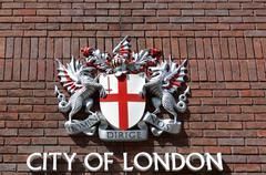 City of London Sign on brick wal Stock Photos
