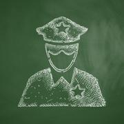 police officer icon - stock illustration