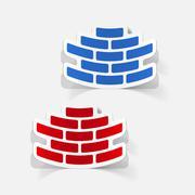 Stock Illustration of realistic design element: brickwork