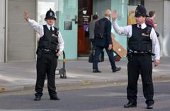 City of London Police  officers Stock Photos