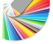 Stock Photo of open color guide swatch on white