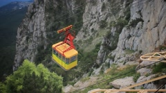 Cable Car in Ai-Petri, Crimea Stock Footage