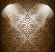 Abstract damask pattern in brown color Stock Illustration