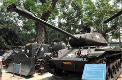 US tank exposed in the War Remnants Museum in Saigon, Vietnam Stock Photos