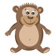 Vector Monkey Illustration - stock illustration