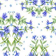 Watercolor Damask Vignette Texture - stock illustration