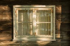 Old nostalgic wooden window frame Kuvituskuvat
