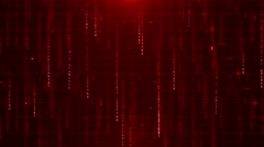 RED digital data background 4K (More than 35 ) Stock Footage