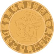 ornament in the style of the ancient Maya - stock illustration