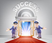 Red carpet door to Success Piirros