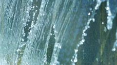 SLOW MOTION: macro shot of a fountain in Peterhof Palace Stock Footage