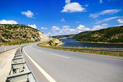 mountain road in Turkey Anatolia region - stock photo
