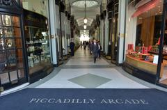 Visitors in Piccadilly Arcade in London UK Stock Photos