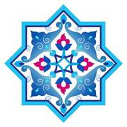 Designed with shades of blue ottoman pattern series four Stock Illustration