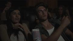 Friends enjoying cinema Stock Footage