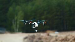 Quadrocopter (drone)  flight Stock Footage