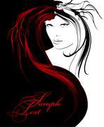 Beauty girl face Stock Illustration
