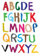 Colorful Vector illustrate alphabet Stock Illustration