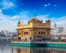 Sikh gurdwara Golden Temple (Harmandir Sahib). Amritsar, Punjab, India - stock photo