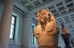 Colossal bust of Ramesses II in the British Museum London UK Stock Photos