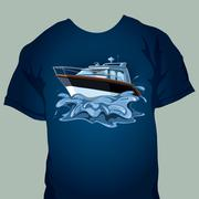 t-shirt design - stock illustration