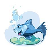 Blue fish Stock Illustration