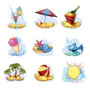 Stock Illustration of summer icon pack