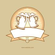 beer mug - stock illustration
