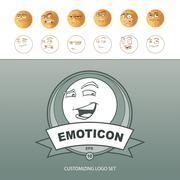 Emoticons customizing Stock Illustration