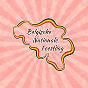 Stock Illustration of Happy Belgian National Day
