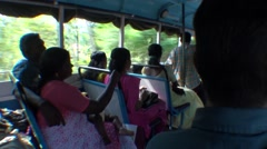 Stock Video Footage of Transport by bus in Karala in India