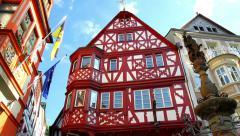 Houses of old German towns (Bernkastel-Kues). Stock Footage