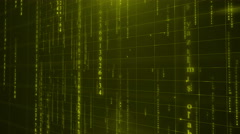 Green digital data background 4K (More than 35 ) Stock Footage